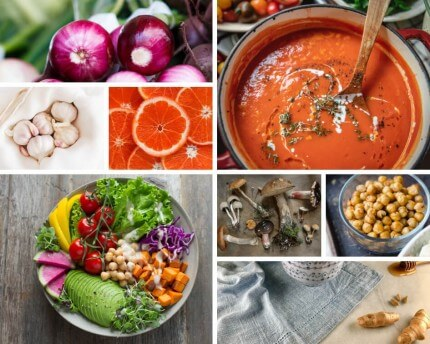 Los mejores alimentos para combatir gripes y resfriados